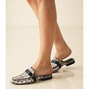 Взуття Туфлі жiночі REISS RENE HARDWARE STRAP MULE SNAKE