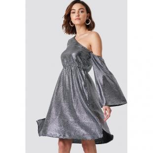 Жіночий одяг Сукня NA-KD 1018-001431 silver