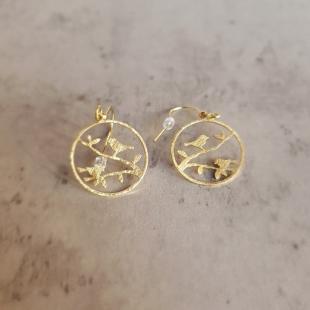 Жіночий одяг Аксесуар Прикраси Dyrberg/Kern 105085-3 gold birds