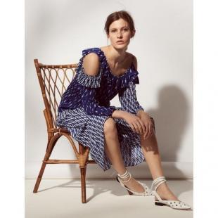 Жіночий одяг Сукня Sandro R20047E0 blue