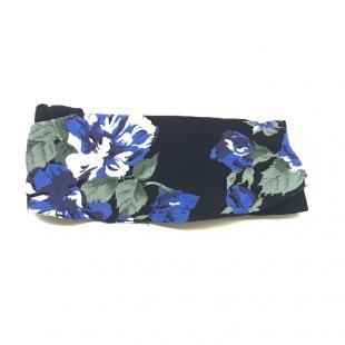 Женская одежда Аксессуар Головной убор GANNI Spring ST. Crepe blue / black