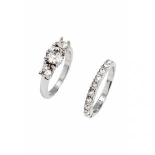 Жіночий одяг Аксесуар Прикраси H&M 2-pack crystal rings