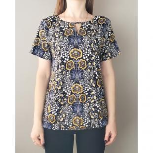 Жіночий одяг Блуза Fransa 20607823 Dark Blue Flower