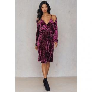 Жіночий одяг Сукня NA-KD 1018-000815 dark purple rose